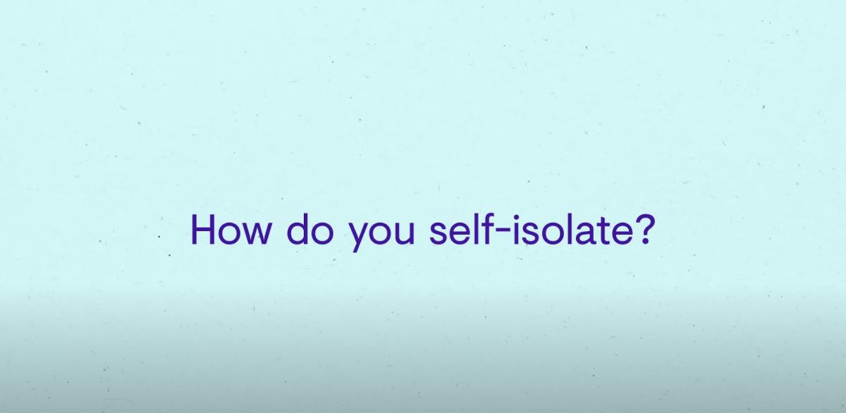 NO ALT TEXT Self Isolate
